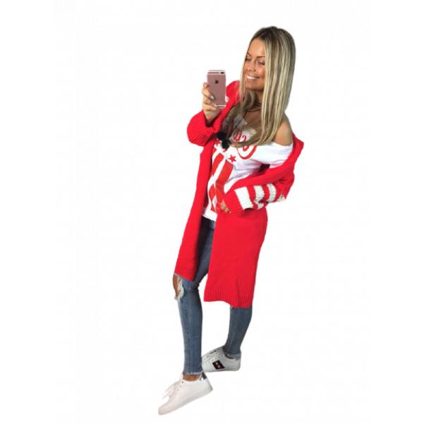 Červený svetr Coca Cola