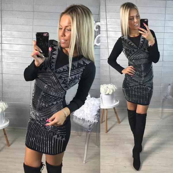 Luxusní SLIM šatičky - black