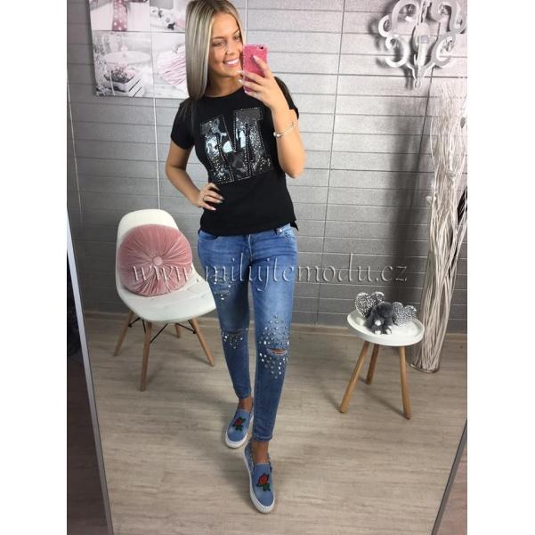 Slim džíny se cvoky