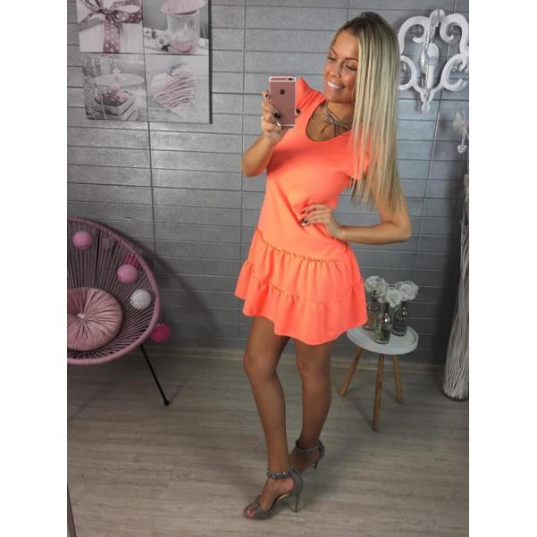 Top oranžové šatičky
