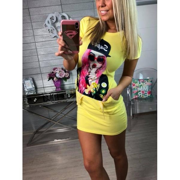 Girl šatičky žluté