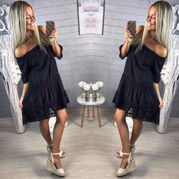 Lehounké šaty -černá