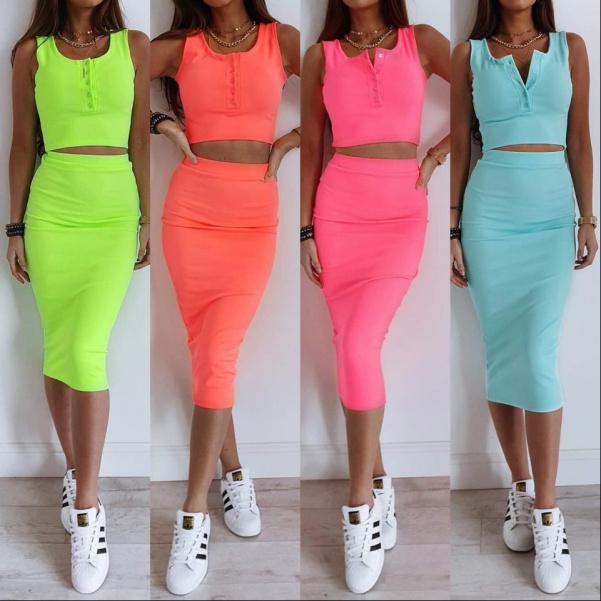 TOP neon  komplety - 4 barvy