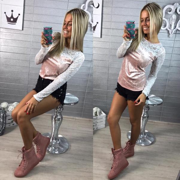 Tričko satén růžové