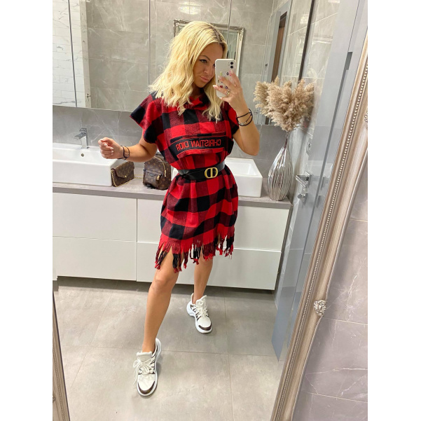 TOP šaty Christina červené
