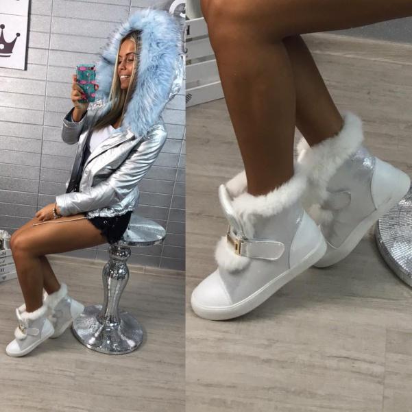 Zimní botičky s kožíškem