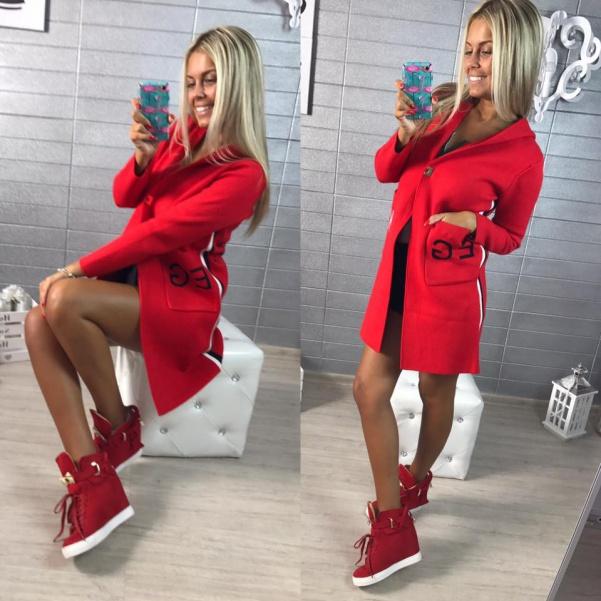 Lux kabátek červený