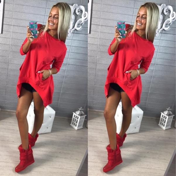 Tunika s kapsami červená