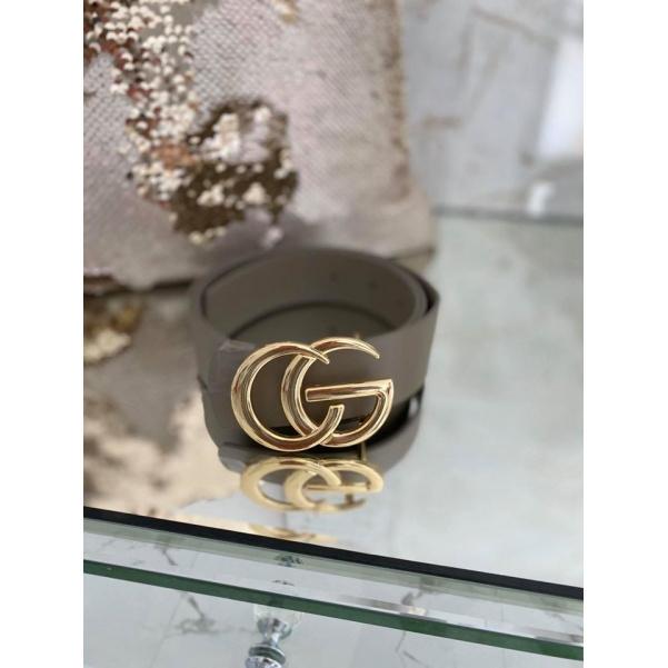 Luxusní pásek ala Gucci - capuccino