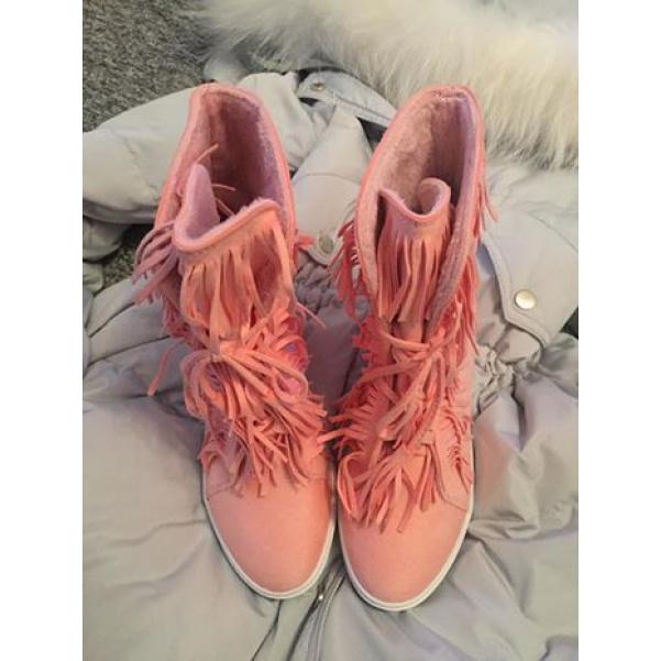PINK boty se střapci