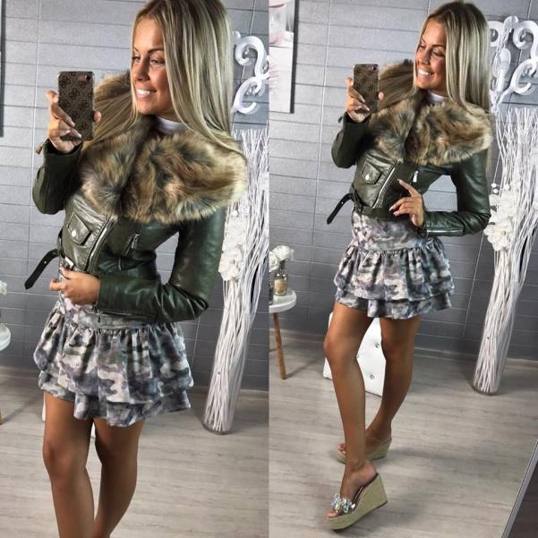 Army suknička khaki
