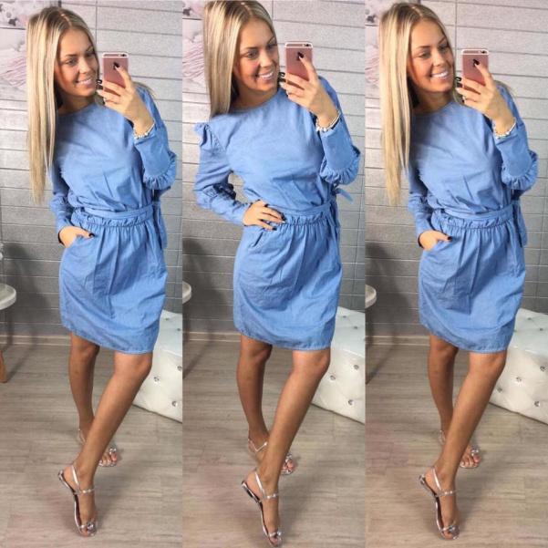Riflové lehounké šaty