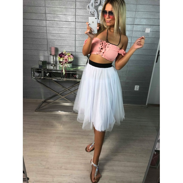 Tylová suknička white