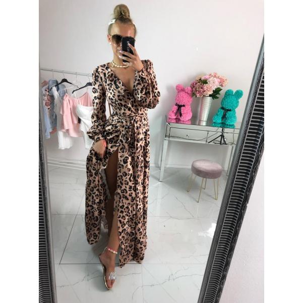 Luxusní hedvábné šaty se vzorem