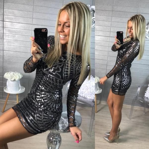 """Luxusní šaty """"ala Diamond"""" silver"""