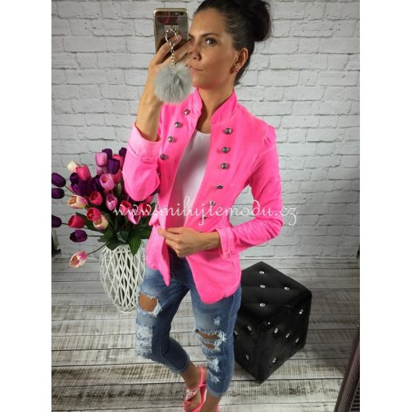 Neon růžové sako