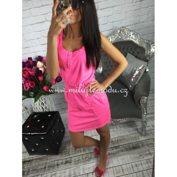 Růžové neon šaty