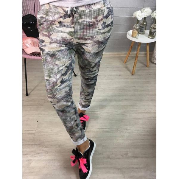 Army tepláky khaki odstín