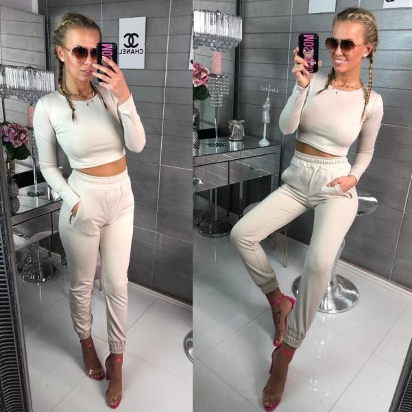 Luxusní elastický komplet -Luxury beige
