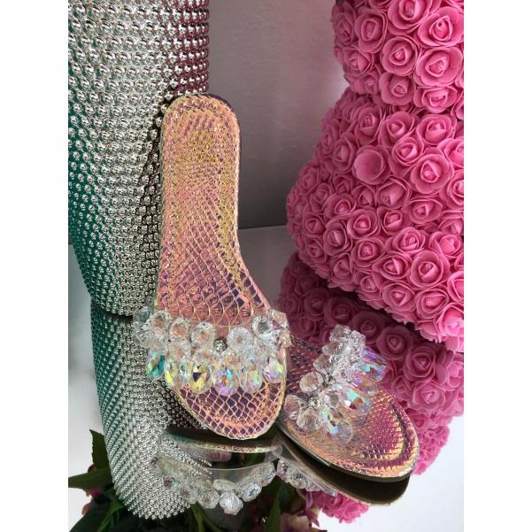 Krásné pink boty s kamínky