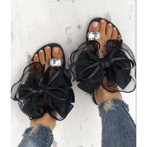 TOP botičky s mašlí black