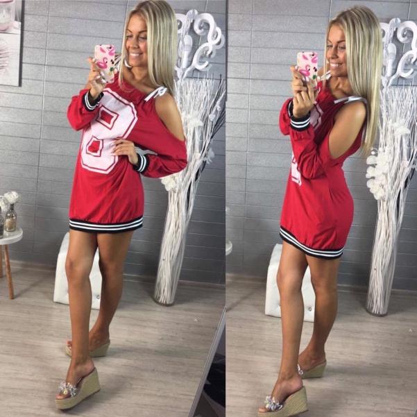 Tuniky s číslem na vázaním- Super kousek- RED
