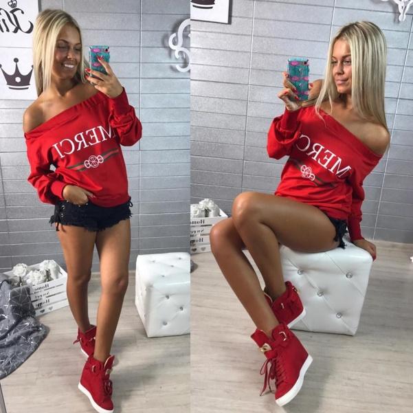 Mikinka ala Gucci - červená