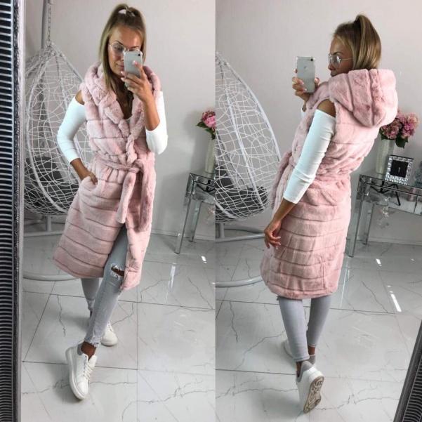 Dlouhá bochánková vesta  - Pinki