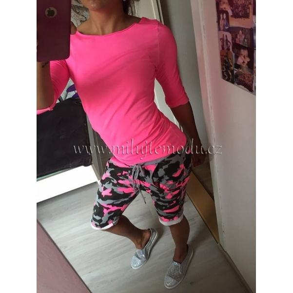 Růžové neon tričko