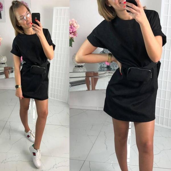 Šaty s kapsičkou - černé
