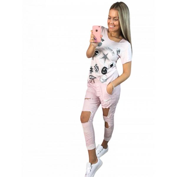 Sv. růžové tričko s obrázky