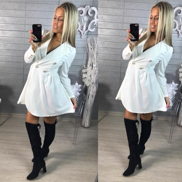 Krásné šatičky nebo kabátek - bíla